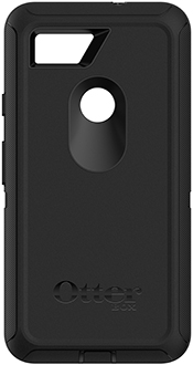 Black OtterBox Pixel 2 XL Defender Case Back View