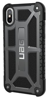 Graphite UAG Monarch - iPhone X Case Back View