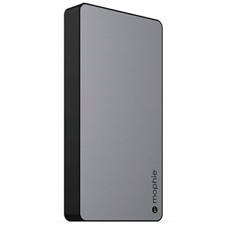 Space Grey Mophie Powerstation XL (10,000mAh) - Angled View