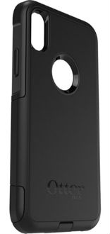 Black Otterbox iPhone X Commuter Case Angled Back View