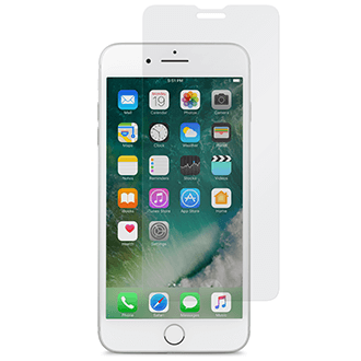 Clear Moshi Airfoil Glass - iPhone 6 Plus/6s Plus/7 Plus/8 Plus Screen Protector White iPhone Front View