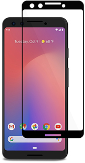 Clear Moshi IonGlass - Pixel 3 Screen Protector Front View
