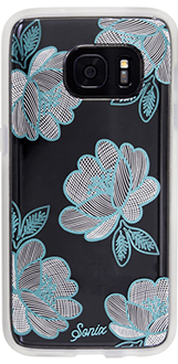 Florette (Blue) Sonix Clear Case - Samsung Galaxy S7 Case Back View