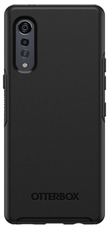 Black OtterBox LG Velvet 5G Symmetry Case Back Flat