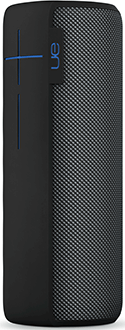 Charcoal Black Ultimate Ears MEGABOOM Speaker Standing Angled Front View