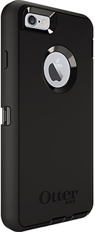 Black OtterBox iPhone 6/6S Defender Case Angled Back View