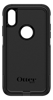 Black OtterBox iPhone XR Commuter Case Back View