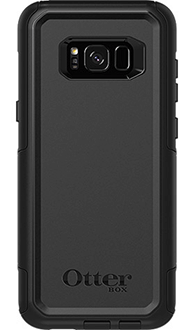 Black Otterbox Galaxy S8 Plus Commuter Case Back View