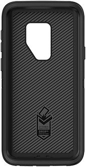 Black OtterBox Galaxy S9+ Defender Case Front
