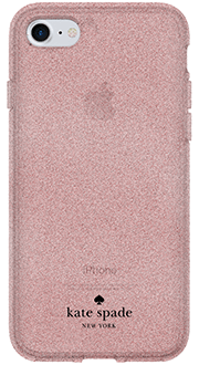 Rose Gold Kate Spade Flexible Glitter - iPhone 6/6s/7/8 Case Back View