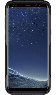 Black Otterbox Galaxy S8 Plus Commuter Case Front View
