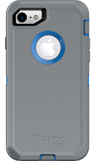 Cowabunga Blue/Gunmetal Grey Otterbox iPhone 7 Defender Case Back View