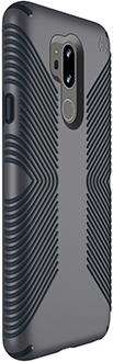 Angled Graphite Grey Speck Presidio Grip LG G7 Case