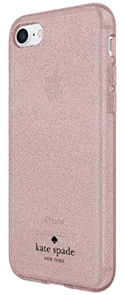 Rose Gold Kate Spade Flexible Glitter - iPhone 6/6s/7/8 Case Angled View