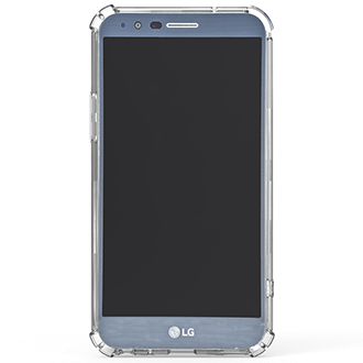 Clear PureGear Hard Shell - LG Stylo 3 Case Angled View