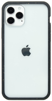 Clear Pela iPhone 12 and iPhone 12 Pro Case with black border from the Back
