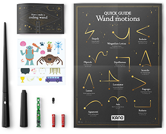 Contents of Kano Harry Potter Wand Kit