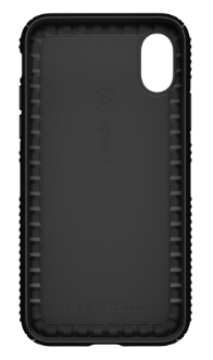 Black/Black Speck Presidio Grip - Apple iPhone X Case Front View