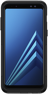 Black OtterBox Galaxy A8 Commuter Case Front