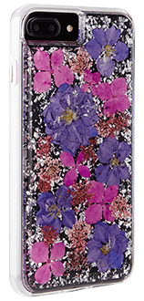 Purple Case-Mate Karat Petals - iPhone 7 Plus/8 Plus/6 Plus/6S Plus Case Angled View