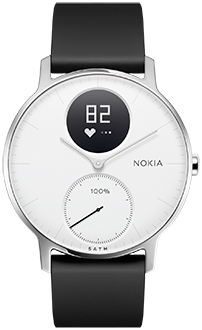 White 36mm Nokia Steel HR Front View