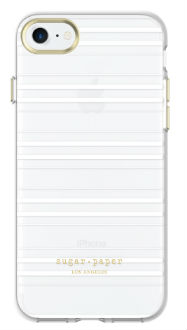 Stripes Clear/White Sugar Paper Printed - iPhone 7/8 Case Back View