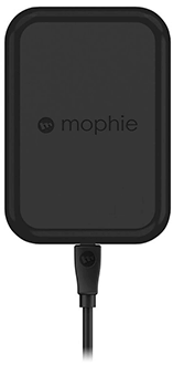 Black Mophie Charge Force Wireless Vent Mount - Front View