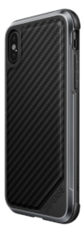 Carbon Fibre X-Doria Defence Lux iPhone X Case Angled Back View