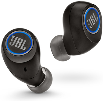 Angled Black JBL Free True Wireless Headphones