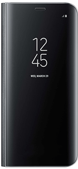 Black Samsung Clear View Standing Cover - Galaxy S8+ Front View
