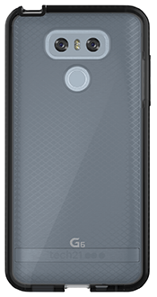 Smokey/Black Tech 21 Evo Check - LG G6 Case Back View