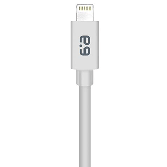 White PureGear Charge and Sync Cable for Apple Lightning Devices (6ft) - Front View