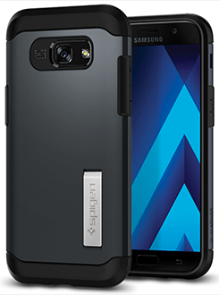 Metal Slate Spigen Slim Armor - Samsung Galaxy A5 Case Back View
