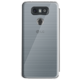 Platinum LG Folio Quick Cover - LG G6 Case Back View