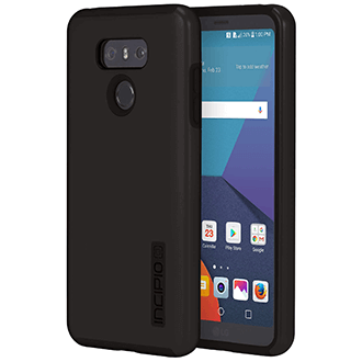 Black/Black Incipio DualPro - LG G6 Case Front View