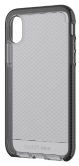 Smokey/Black Tech 21 Evo Check - iPhone X Case Front View