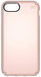 Rose Gold Speck Presidio Metallic - iPhone 6/6s/7/8 Case Back View