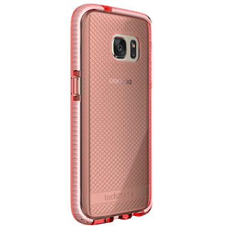Rose/White Tech 21 Evo Check - Samsung Galaxy S7 Case Angled View
