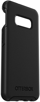Black OtterBox Galaxy S10e Symmetry Case Angled View
