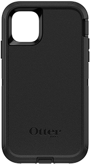 Black OtterBox iPhone 11 Defender Case Back