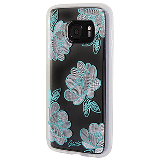 Florette (Blue) Sonix Clear Case - Samsung Galaxy S7 Case Angled View