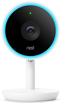 White Nest Cam IQ Security Camera Front View