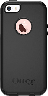 Black Otterbox iPhone 5/5S/SE Commuter Case Back View