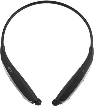 Black LG Tone Ultra Headset Front View