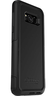 Black Otterbox Galaxy S8 Plus Commuter Case Angled Back View