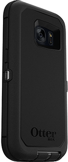 Black OtterBox Galaxy S7 Defender Case Angled Back View