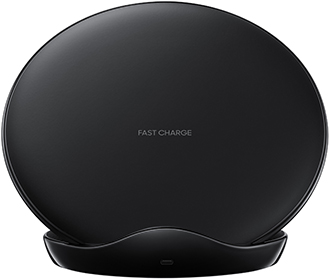 Black Samsung Fast Charge Wireless Charging Stand Front