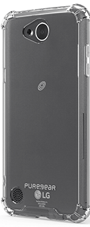 Clear PureGear Hard Shell - LG X Power 2 Case Front View