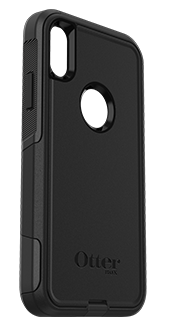 Black OtterBox iPhone XR Commuter Case Angled View