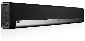 Black Sonos PLAYBAR Speaker Front View